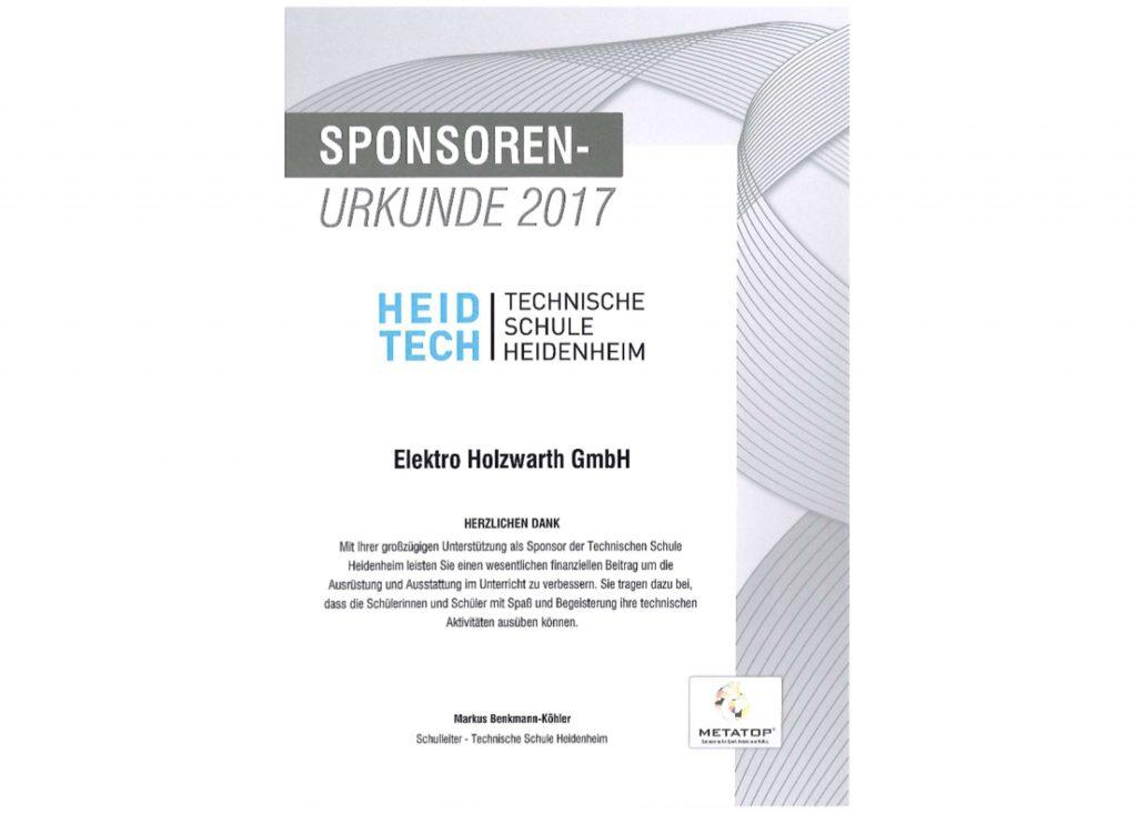 Zertifikate – Elektro Holzwarth GmbH